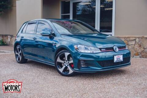 2018 Volkswagen Golf GTI for sale at Mcandrew Motors in Arlington TX