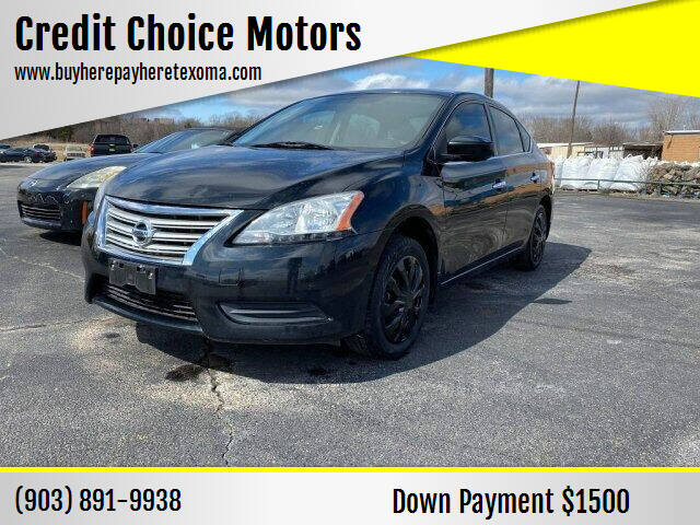 2013 Nissan Sentra for sale at Credit Choice Motors in Sherman TX