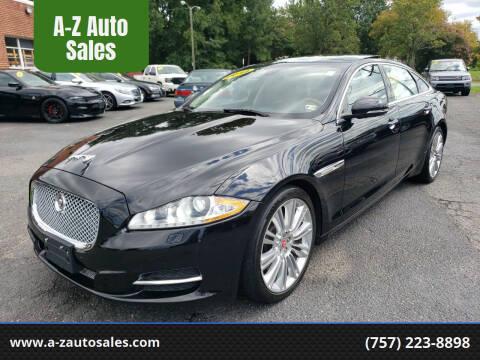 2014 Jaguar XJL for sale at A-Z Auto Sales in Newport News VA