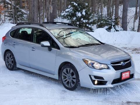 2015 Subaru Impreza for sale at Bethel Auto Sales in Bethel ME