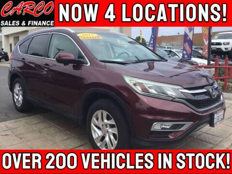 2015 Honda CR-V for sale at CARCO SALES & FINANCE - CARCO OF POWAY in Poway CA