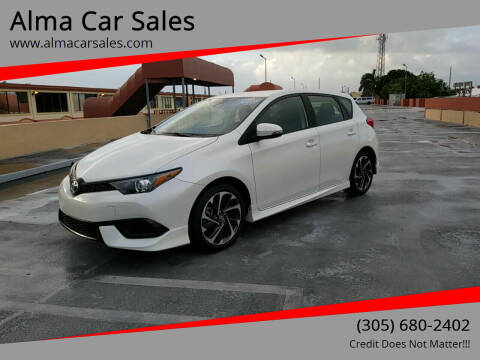 2018 Toyota Corolla iM for sale at Alma Car Sales in Miami FL