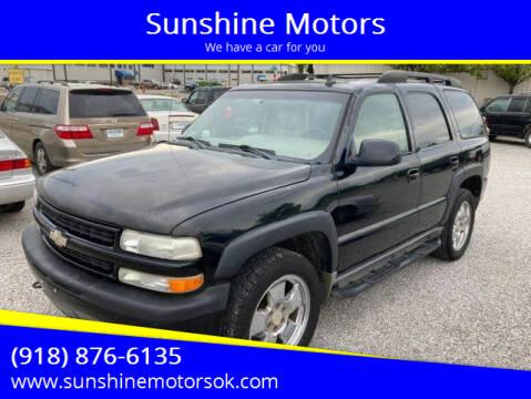 2006 Chevrolet Tahoe for sale at Sunshine Motors in Bartlesville OK