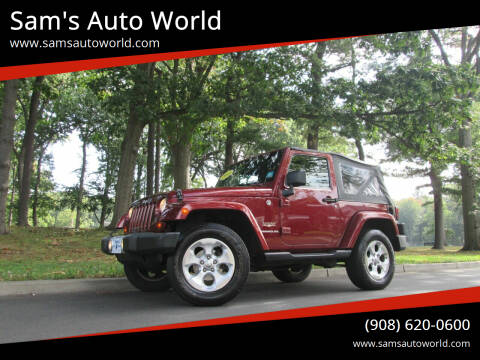 2009 Jeep Wrangler for sale at Sam's Auto World in Roselle NJ