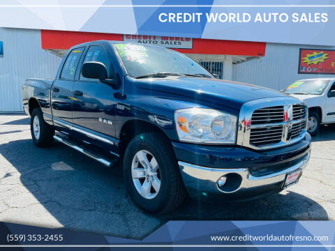 2008 Dodge Ram Pickup 1500 for sale at Credit World Auto Sales in Fresno CA