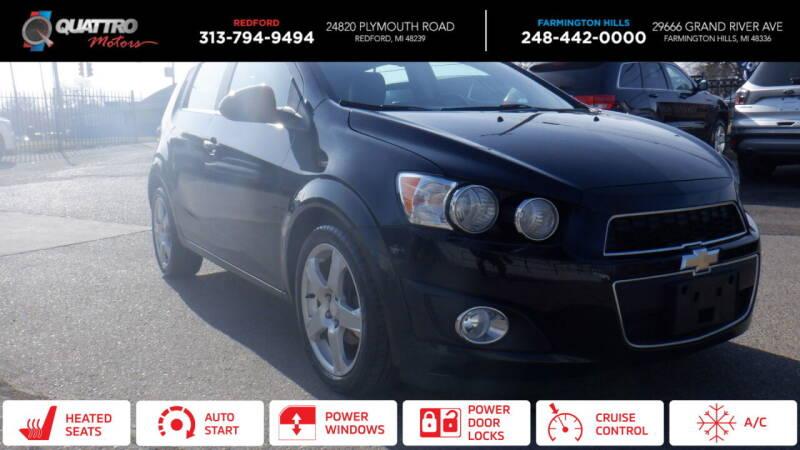 2016 Chevrolet Sonic for sale at Quattro Motors 2 in Farmington Hills MI