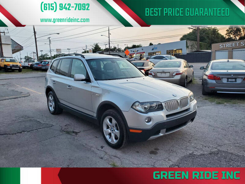 2008 BMW X3 for sale at Green Ride Inc in Nashville TN