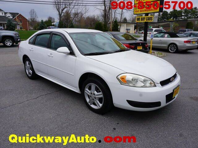 2012 Chevrolet Impala for sale at Quickway Auto Sales in Hackettstown NJ
