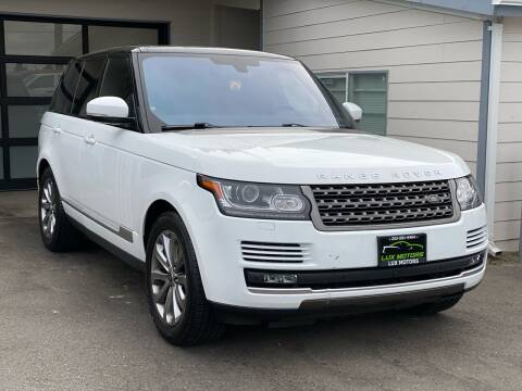 2016 Land Rover Range Rover for sale at Lux Motors in Tacoma WA
