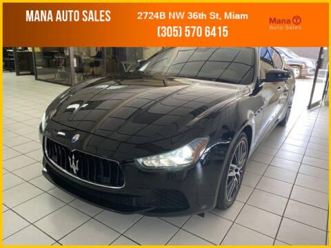 2017 Maserati Ghibli for sale at MANA AUTO SALES in Miami FL