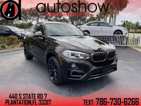 2018 BMW X6 for sale at AUTOSHOW SALES & SERVICE in Plantation FL