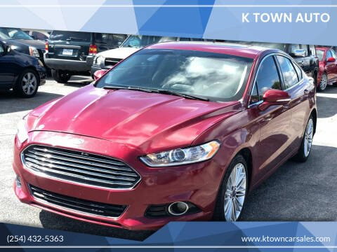 2016 Ford Fusion for sale at K Town Auto in Killeen TX