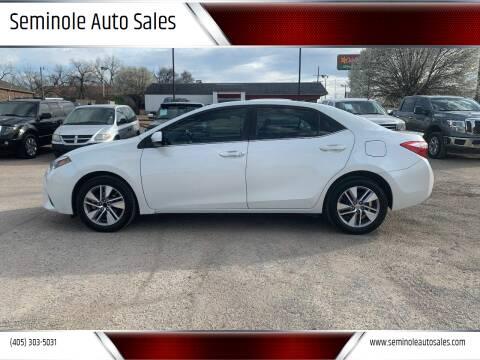 2014 Toyota Corolla for sale at Seminole Auto Sales in Seminole OK