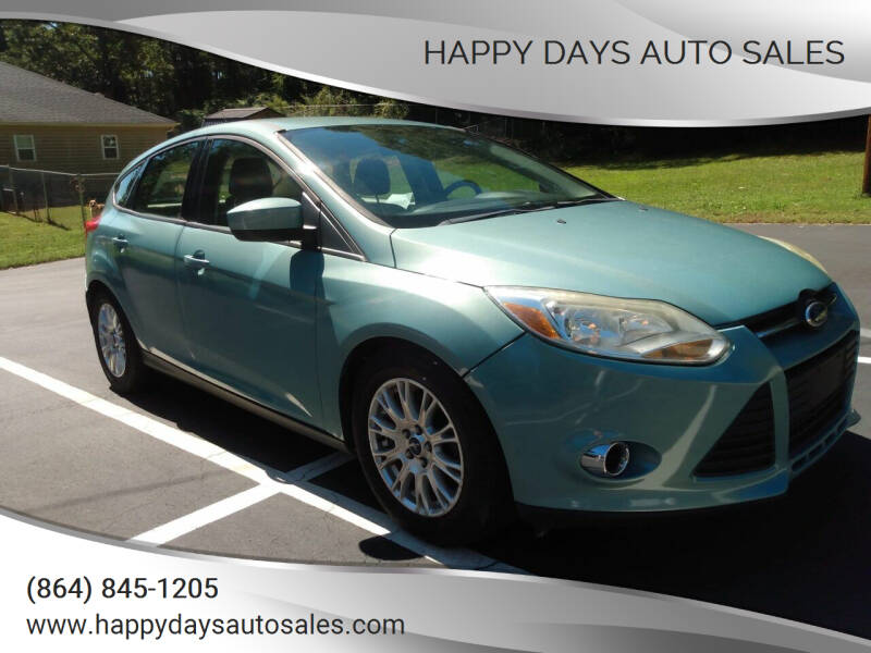 2012 Ford Focus for sale at Happy Days Auto Sales in Piedmont SC