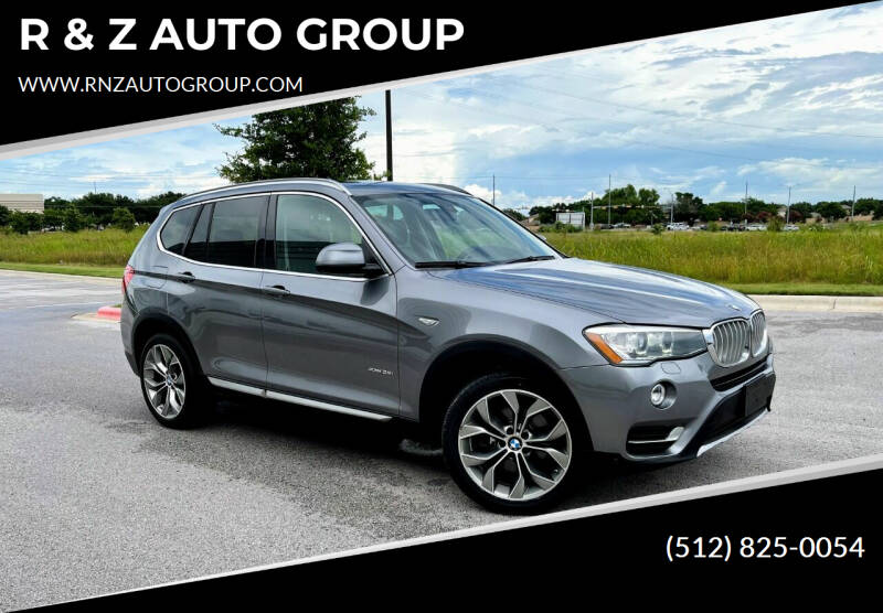 2016 BMW X3 for sale at R & Z AUTO GROUP in Austin TX