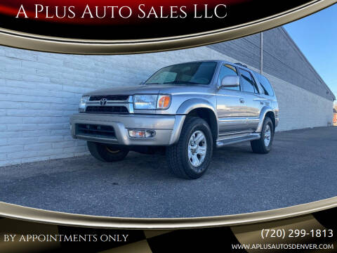 2002 Toyota 4Runner for sale at A Plus Auto Sales LLC in Denver CO