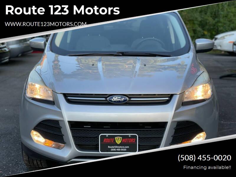 2013 Ford Escape for sale at Route 123 Motors in Norton MA