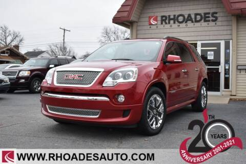 2012 GMC Acadia for sale at Rhoades Automotive in Columbia City IN