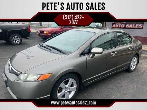 2006 Honda Civic for sale at PETE'S AUTO SALES - Middletown in Middletown OH