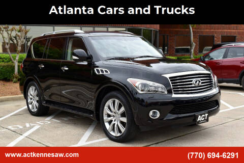 2012 Infiniti QX56 for sale at Atlanta Cars and Trucks in Kennesaw GA