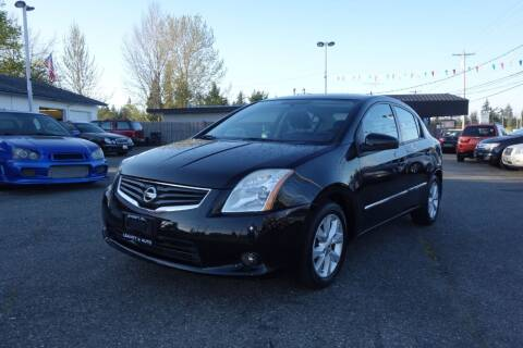 2012 Nissan Sentra for sale at Leavitt Auto Sales and Used Car City in Everett WA
