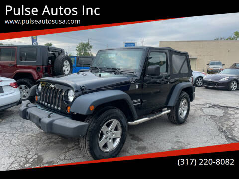 2010 Jeep Wrangler for sale at Pulse Autos Inc in Indianapolis IN