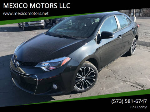 2014 Toyota Corolla for sale at MEXICO MOTORS LLC in Mexico MO