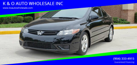 2007 Honda Civic for sale at K & O AUTO WHOLESALE INC in Jacksonville FL