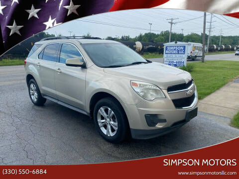 2011 Chevrolet Equinox for sale at SIMPSON MOTORS in Youngstown OH