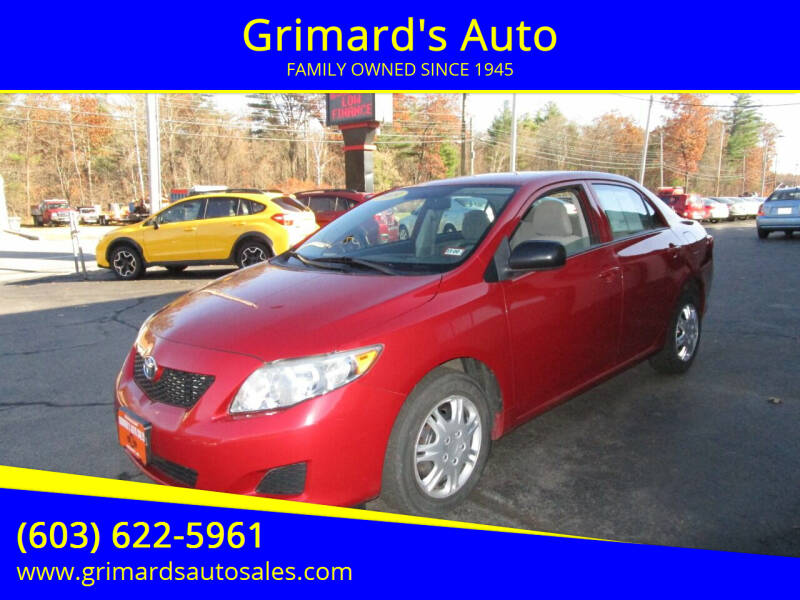 2009 Toyota Corolla for sale at Grimard's Auto in Hooksett, NH