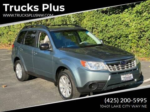 2011 Subaru Forester for sale at Trucks Plus in Seattle WA