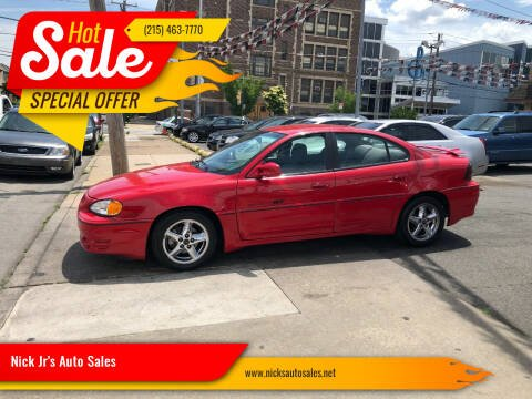 2001 Pontiac Grand Am for sale at Nick Jr's Auto Sales in Philadelphia PA
