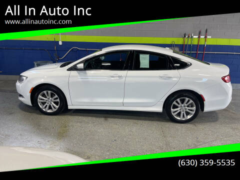 2015 Chrysler 200 for sale at All In Auto Inc in Addison IL