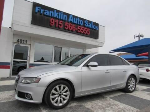 2010 Audi A4 for sale at Franklin Auto Sales in El Paso TX