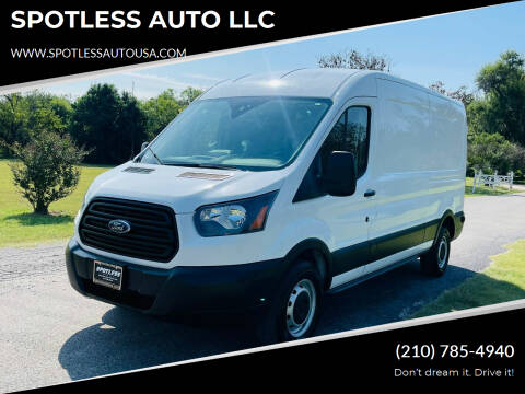 2019 Ford Transit Cargo for sale at SPOTLESS AUTO LLC in San Antonio TX