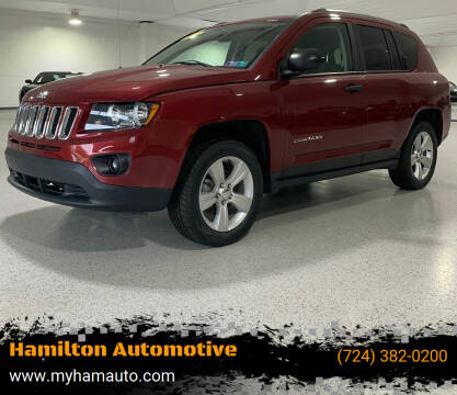 2016 Jeep Compass for sale at Hamilton Automotive in North Huntingdon PA