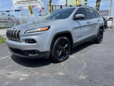 2018 Jeep Cherokee for sale at MIAMI AUTO LIQUIDATORS in Miami FL