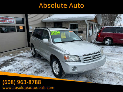 2006 Toyota Highlander for sale at Absolute Auto in Baraboo WI