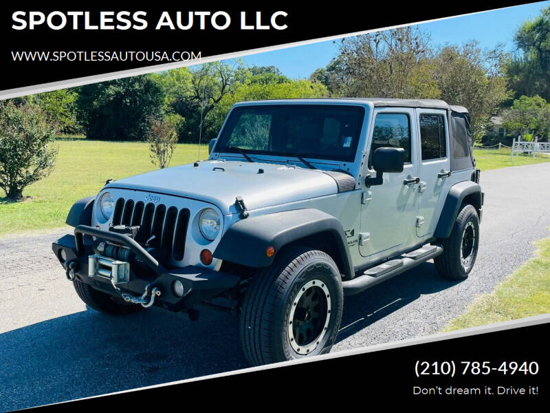 2007 Jeep Wrangler Unlimited for sale at SPOTLESS AUTO LLC in San Antonio TX