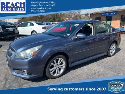 2013 Subaru Legacy for sale at Beach Auto Sales in Virginia Beach VA