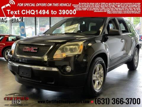 2011 GMC Acadia for sale at CERTIFIED HEADQUARTERS in Saint James NY