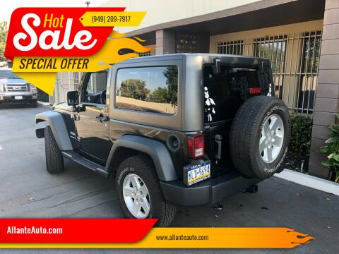 2014 Jeep Wrangler for sale at AllanteAuto.com in Santa Ana CA