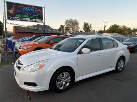 2011 Subaru Legacy for sale at AWD Denver Automotive LLC in Englewood CO