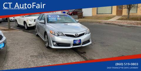 2012 Toyota Camry for sale at CT AutoFair in West Hartford CT
