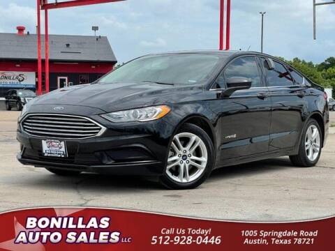 2018 Ford Fusion Hybrid for sale at Bonillas Auto Sales in Austin TX
