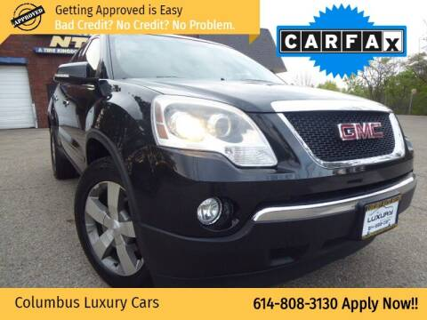 2012 GMC Acadia for sale at Columbus Luxury Cars in Columbus OH