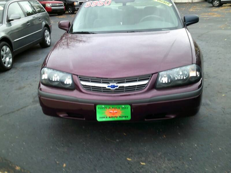 2004 Chevrolet Impala for sale at JIMS AUTO MART INC in Milwaukee WI