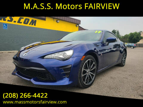 2017 Toyota 86 for sale at M.A.S.S. Motors - Fairview in Boise ID