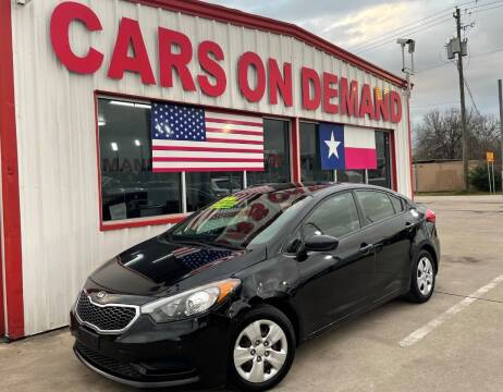 2016 Kia Forte for sale at Cars On Demand 2 in Pasadena TX