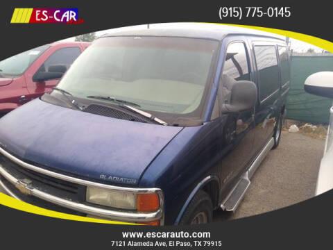 2000 Chevrolet Express Cargo for sale at Escar Auto in El Paso TX